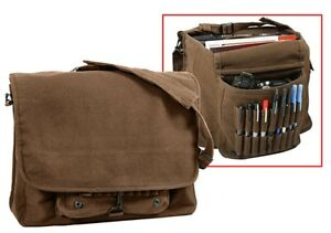 Rothco 9728 Vintage Canvas Paratrooper Bag - Brown ***new***