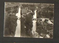 ANCY-le-FRANC (89) SCIERIE & VILLAS & CANAL DE BOURGOGNE , vue aérienne 1960