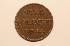 Netherlands / Utrecht - duit 1744 *rare coin* (#24)