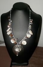 SILPADA STERLING SILVER MOTHER OF PEARL SHELL BOARDWALK NECKLACE N2098 NEW