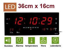 Reloj de Pared y mesa Digital Oficina Temperatura Calendario alarma 220V -3613S-