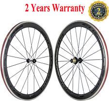 Superteam 50mm Carbon Fiber Wheels 700C Clincher aluminum brake Carbon Wheelset