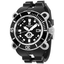 Zodiac Oceanaire Black Dial Stainless Steel Case Quartz Men's Watch ZO8532 ZMX05