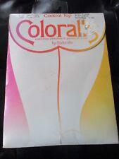 Coloralls Vintage Buff Control Top Nylon/Spandex Pantyhose-Size Queen X - 1980's