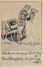 Soldat Stiefel Sand Übungsplatz AK alt WK II Künstler Barlog Militaria 1608482