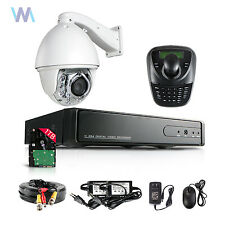 20x Auto Tracking SONY CMOS NIGHT VISION PTZ Dome CCTV Camera 3D Keyboard DVR 1T