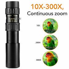 4K 10-300X40mm Super Telephoto Zoom Monocular Telescope Portable Binoculars
