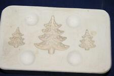 Vtg Ceramic Pottery Slip Casting Mold - Holland - 3 Small Trees Earrings Brooch