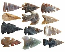 """12 pcs unique arrowhead Collection  LOT SPEARHEAD SPEAR POINTS 2""""- 2.5"""""""