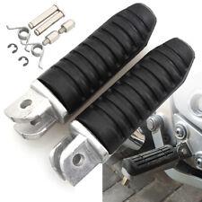 2X Motorcycle Front Footrests Foot Pegs For Suzuki GSXR1100 GSR600 GSX1250 Black