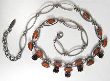 Versilberte Modeschmuck-Halsketten aus Glas