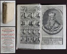 Lanus -Mausoleum Saxonicum Tripartitum 1695 Frontispiz mit 14 gest. Portraits xz