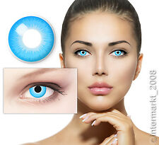 Farbige Crazy Fun Karneval Halloween Kontaktlinsen Contact lenses - BLUE ELF