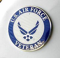US Air Force Veteran Pin  1.5 inch large Wing style