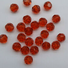 12pc Swarovski Crystal Indian Red 6mm Faceted Round 5000 Beads
