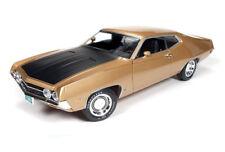 1:18 AUTO WORLD AMERICAN MUSCLE *GOLD & BLACK* 1970 Ford Torino Cobra NIB!