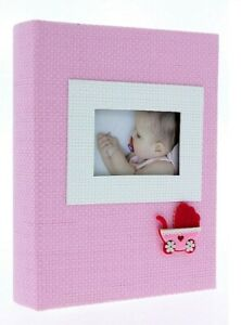 "Pink Slip In Photo Album 300 6"" x 4"" Photos Baby Girl Keepsake Birthday Gift"