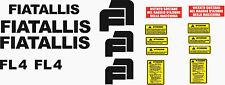 Serie Decalcomania-Adesivi Per Trattore Fiat-Allis FL4..