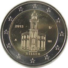 *** 2 EURO DEUTSCHLAND 2015 Hessen Paulskirche Auswahl aus A D F G J ***