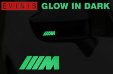 BMW M SPORT GLOW IN DARK DECALS STICKERS GRAPHICS x2
