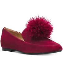 NIB Size 10 Michael Kors Fara Loafer Mulberry Pom Pom Shoes $130 Retail