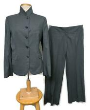 Luciano Barbera Pant Suit Blazer Pants Size 12 US 46-48 EU Grey Two Piece Womens