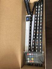 4PCS Car LED Strip Lights RGB Car Interior Atmosphere Neon Light with Remote