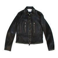Valentino Garavani - New $5250 - Rockstud Leather Jacket - Black Stud - US 2