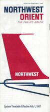 Northwest Orient Airlines system timetable 2/1/67 [0112]