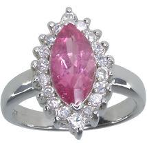 Piedras Preciosas Turmalina Rosa Marquesa STERLING SILVER RING Size M