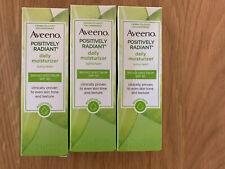 Three Aveeno Positively Radiant Daily Moisturizer Broad Spectrum Spf 30 1oz