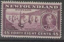 NEWFOUNDLAND SG267 1937 48c SLATE-PURPLE MTD MINT