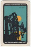 Playing Cards Single Card Old LNER Railway Train Advertising Art FORTH BRIDGE 1