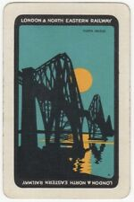 Playing Cards 1 Single Swap Card - Old Vintage LNER Railway Train FORTH BRIDGE 1