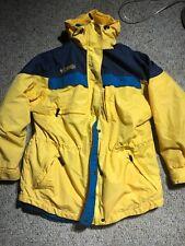 Columbia Sportswear Men's 3 In 1 Winter Ski Coat Jacket Yellow Blue Sz L Hooded