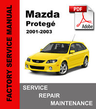 Mazda Protege 2001-2003 Service Repair Workshop Maintenance Manual