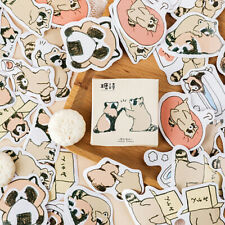45pcs Cute Little Raccoons DIY Diary Stickers Paper Labels Gift Packaging Dec^US