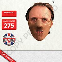 hannibal CARD FACE MASK MASKS FOR PARTY FUN HALLOWEEN FANCY DRESS UP