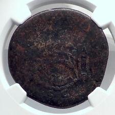 TRAJAN 107AD Rome Sestertius BRIDGE Over Danube or Tiber Roman Coin NGC i81361