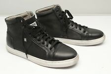 G Star Raw Original Mens Sneakers 11 44 Toublo Mid Black Leather White Sole