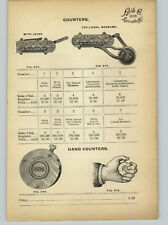 1905 PAPER AD Durant Hand Counters With Level Measure Starrett Speed Indicators
