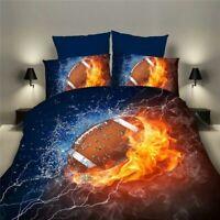 3D Football Basketball Duvet Cover Bedding Set Soccer Pillowcase Comforter
