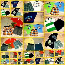 Nwt Boys Lot 3 3T Gymboree Gap Tommy Summer Clothes Sets Outfits shorts tops New