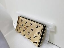 New Giuseppe Zanotti Design Signature Mirrored gold Logo motif zip around wallet