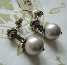 KONPLOTT aparte Ohrhänger Vintage Pearl crystal / antique bronce