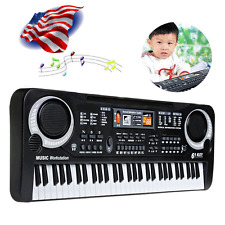 US 61 Keys Digital Music Electronic Keyboard Key Electric Piano Microphone USA