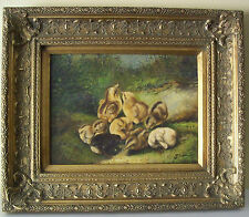 Exquisite Antique Ornate Gold Gilt Picture Frame W/Painting After Arthur F. Tait