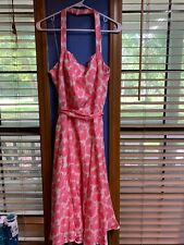 Maggy London Women's Silk Floral Dress Size 12~ Pink And White