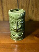 Vintage MCM Mid Century Moss Green Hawaii Tiki Tumbler Coffee Cup Bar HTF Gift