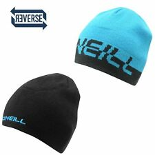 Oneill Corp Reversible Adults Black Blue Beanie Hat BNWT Boarding Skiing Golf l